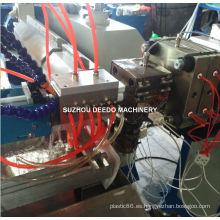 Máquina de producción de extrusión plástica de doble color LED lámpara de sombra