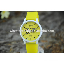Yiwu alibaba com simples criança bebê inteligente empresa relógio de quartzo silicone Genebra