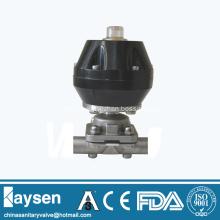 Sanitary pneumatic diaphragm valves weld end