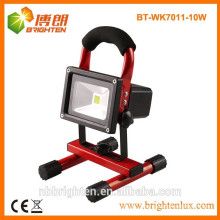 Factory Supply rechargeabhe 10w led flood lamp light with 12V DC charger