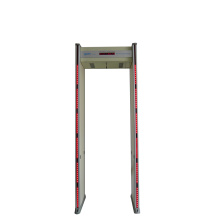 Six zones door frame metal detector
