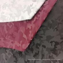 Motif de camouflage en cuir synthétique PU
