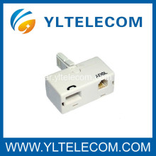 منافذ مزدوجة ADSL Micro-Filter UK Broadband Phone Splitter