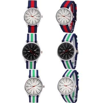 Yxl-470 Vogue Legierungs-Uhr, Qualität reizend echtes Leder-Frauen Dw Nato Nylonbügel-Uhr-Damen