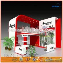 fácil de dobrável e instalar fornecedor de ouro cabine de exibição portátil em Xangai