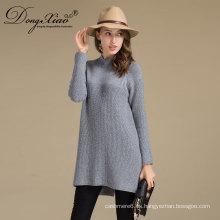 Alta calidad personalizada al por mayor Erdos Merino lana 12Gg tenedor abierto diseño de suéter para niña