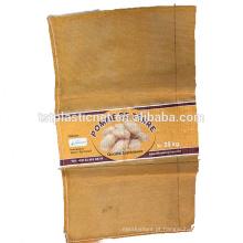 Qualidade assegurada saco de malha mono para alho e gengibre
