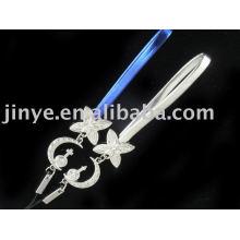 Bracelet en cuir de cristal de mode pour le cadeau de la Saint-Valentin