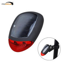Solar Rechargeable Mountain Bike Safety Warning LED Tail Light