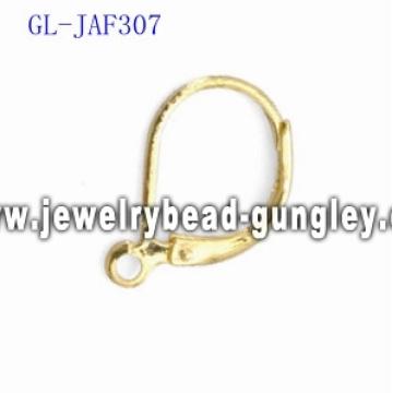 Vergoldete Hebel zurück Ohrringe Zubehör
