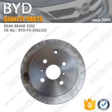 ORIGINAL BYD F3 Parts DISCO DE FRENO TRASERO BYD-F3-3502102