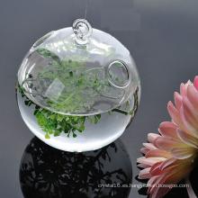Venta caliente Hogar Decoración Floreros de vidrio