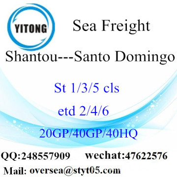 Shantou Port Sea Freight Versand nach Santo Domingo