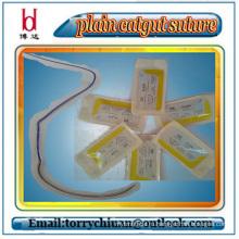 Boda высокая прочность на растяжение Одноразовый абсорбируемый шовный и хроматический хирургический шов, usp 7-0 #