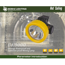 BK3000 A prova de água industrial levou a luz de luz portátil leve com certificação ATEX IECEX
