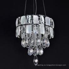 Lámpara colgante de metal con luz de cristal Lámpara colgante de metal con luz