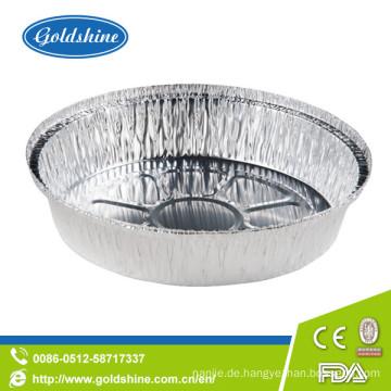 "9 ""wegwerfbare runde Aluminiumfolie-Tortenwannen"