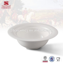 Western tableware ceramic plain white large soup bowls, bowl noodles