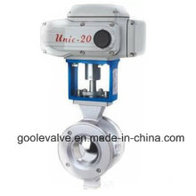 Electric Wafer Type V-Port Ball Valve