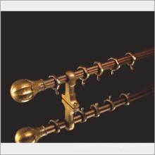 25mm / 28mm / 30mm de oro de color deslizante ventana de aluminio barra de cortina