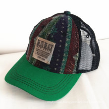 Canvas Embossed Embroidery Sandwich Sports Baseball Cap
