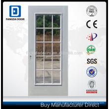 """8'0 """"Wide 15-Lite porta de aço de inserção de vidro simples"""