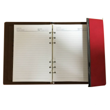 dairy PU leather custom paper notebook