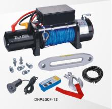合成繊維ロープ 9500 lb 4 X 4 ワイヤレスでオフロード ウィンチ制御します。