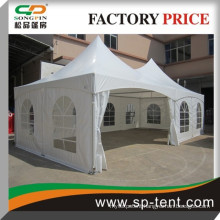 Custom outdoor high top double peak tension wedding tent for sale UK 5x10m