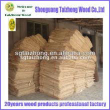 Matériau de peuplier de qualité des meubles utilisé pour le contreplaqué