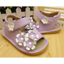 Purple Small Flowers Squeaky Sandals