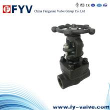 Válvula de acero forjada manual del globo de F306L / F304L (J11H)
