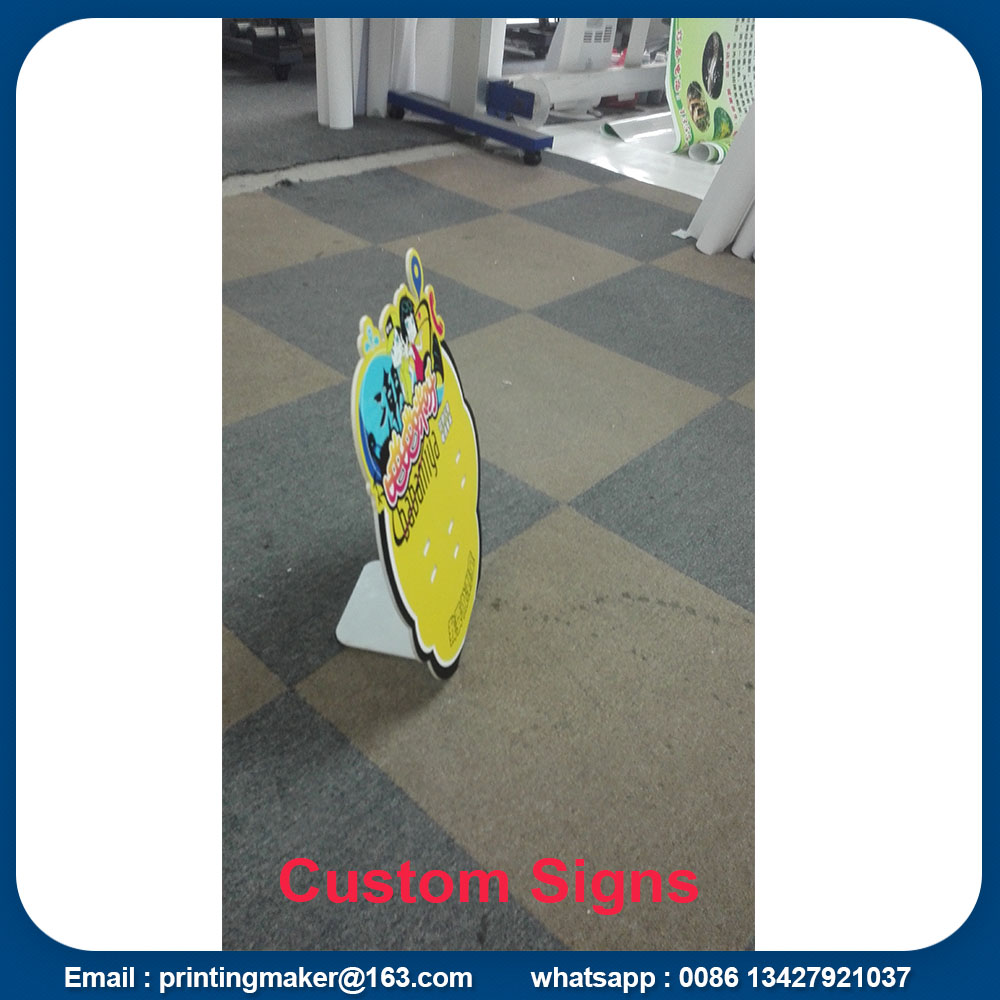 free standing pvc board display