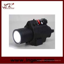M6 6V 180lm Qd LED taktische Taschenlampe & rote Laser Anblick schwarz