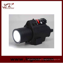 M6 6V 180lm Qd LED Tactical Flashlight & Red Laser Sight Black