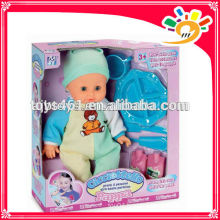 Funny 38cm height battery operated sucking baby doll functional baby dolls toys with dinner