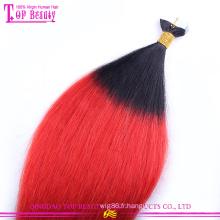 2015 Nouvelle Arrivée Usine prix péruvien remy ombre ruban extensions de cheveux en gros ruban extensions de cheveux