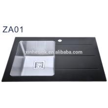 Überzähliger einzelner Schüssel ausgeglichener Glasspültisch