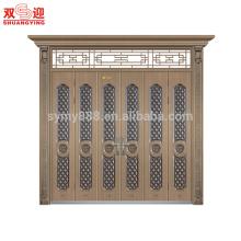 Puerta principal exterior de acero de diseño moderno