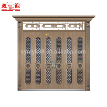Porta principal exterior de aço design moderno