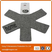 Protecteur de casserole et poêle en tissu non tissé de couleur grise