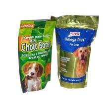Bolsa de plástico para alimentos para perros / bolsa de alimentos para perros Al Foil Gusset