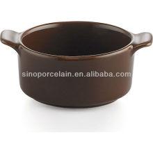Prato cerâmico de cerâmica preta para BS12083B