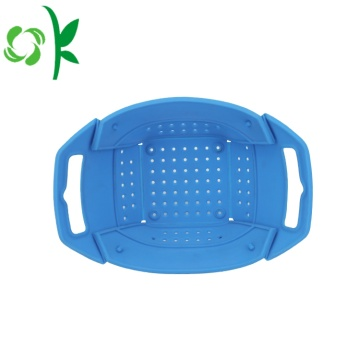 Silicone Vegetable Grocery Fruktkorg Folding Basket