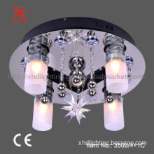 Modern Crystal ceiling lamp with remote control
