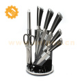 7 piece wholesale factory kitchen knife sets chef knife with acrylic