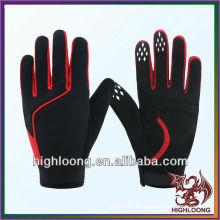 Estilo caliente dedo completo spandex profesional guante de ciclismo