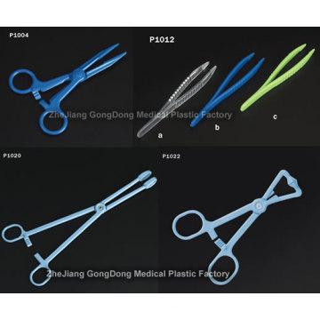 Твизеры, ножницы и держатель для губки (одноразовый пластик)