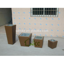 4 pieces with aluminum alloy plant pot set