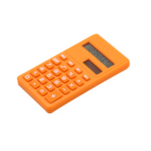 Solar and battery powered pocket 8 digit calculator